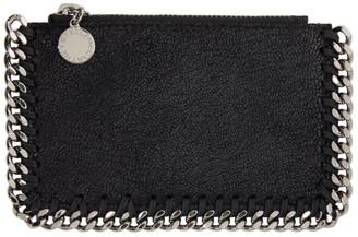 Stella McCartney Black Falabella Zipped Card Holder