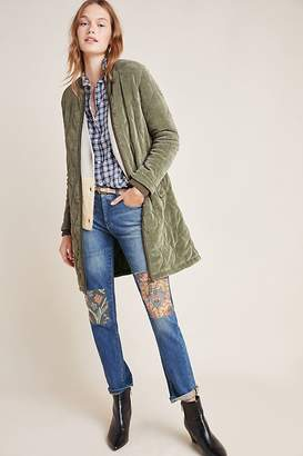 Anthropologie Quilted Corduroy Jacket