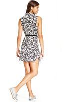 Keds Juniors Dress, Sleeveless Animal-Print Shirtdress