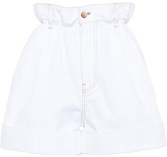 Miu Miu Drill Paper Bag Shorts