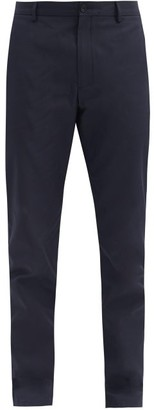 Burberry Cotton-blend Gabardine Chino Trousers - Navy