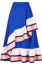 Emilio Pucci Cady Silk Ruffle Midi Skirt