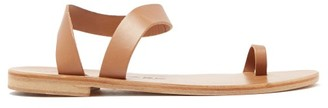 Álvaro González Angela Leather Sandals - Tan