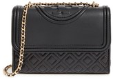 Tory Burch 'Small Fleming' Quilted Leather Shoulder Bag - Beige