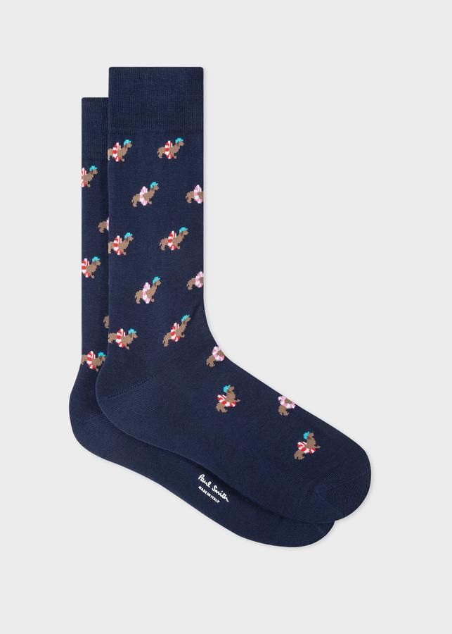 Paul Smith Men's Navy 'Dachshund' Socks