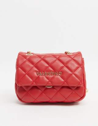 Mario Valentino Valentino By Valentino by Ocarina quilted cross body bag with chain strap in red