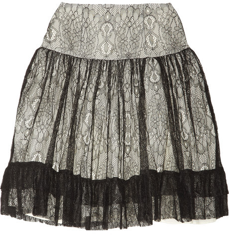 ALICE by Temperley Pirouette lace and chiffon skirt