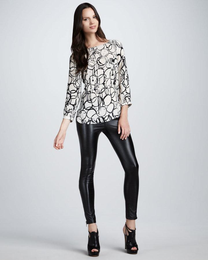 Kelly Wearstler Skinny Faux-Leather Pants