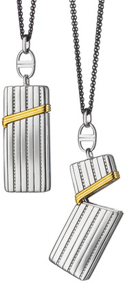 """Monica Rich Kosann Silver & 18k Yellow Gold Secret Box Pendant Necklace, 32"""""""