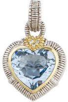Judith Ripka Crystal & Diamond Heart Pendant
