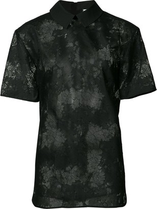 Carven Floral Polo Shirt