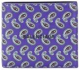 Balenciaga Paisley Bi-Fold Wallet