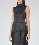Reiss Amie Metallic Knitted Top