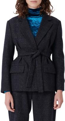 Maje Belted Suit Blazer