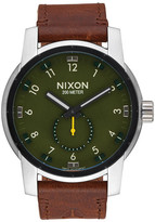 Nixon Men&s Patriot Leather Watch