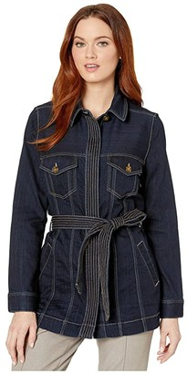 Liverpool Belted Long Jacket (Virginia) Women's Clothing