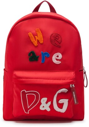 Dolce & Gabbana Kids We Are D&G backpack