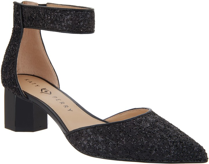 Katy Perry Glitter Ankle Strap Pumps - The Jo