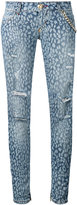 Philipp Plein distressed skinny jeans - women - Cotton/Spandex/Elastane - 27