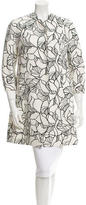 Giambattista Valli Abstract Print Knee-Length Coat w/ Tags
