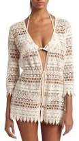 Melissa Odabash Crocheted Lace Cotton Coverup