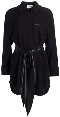 Nanushka Conny Tie-Waist Shirtdress
