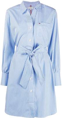 Tommy Hilfiger Stripe Print Shirt Dress