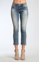 Mavi Jeans Emma Slim Boyfriend In Mid Earthy Vintage