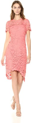 Shoshanna Women's Dalia Short Sleeve Lace Shift Dress