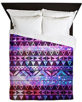 CafePress - Girly Andes Aztec Pattern Pink Teal Ne - Queen Duvet Cover, Printed Comforter Cover, Unique Bedding, Lightweight