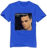 NC2FC Robbie Williams Album Round Neck T Shirt For Men RoyalBlue M Latest T Shirts