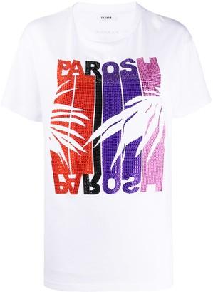 P.A.R.O.S.H. rhinestone embellished T-shirt