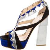 Aperlaï Studded Platform Sandals