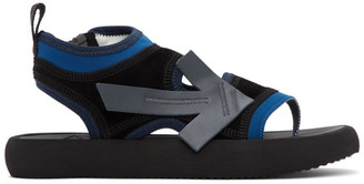 Off-White Black and Blue Surf Sandals