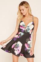 Forever 21 FOREVER 21+ Plunging Floral A-Line Dress