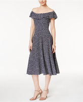 Betsey Johnson Off-The-Shoulder Printed Dress
