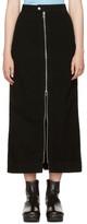 Eckhaus Latta Black Denim Zip Front Skirt