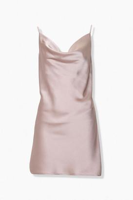 Forever 21 Satin Cowl Neck Slip Dress