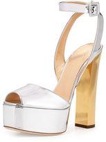 Giuseppe Zanotti Metallic Leather High-Heel Sandal