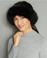 The Fur Vault Fox-Fur-Trim Knitted Mink Fur Hat