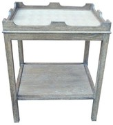 The Well Appointed House Oomph Edgartown Side Table with Shelf in Driftwood