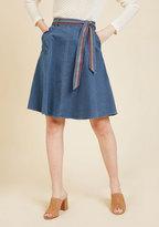 ModCloth Imaginative Affirmation Denim Skirt in 3X