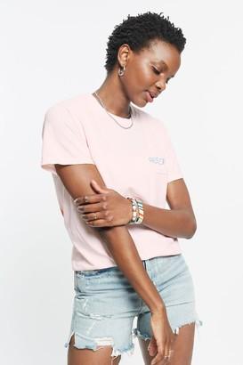 Free & Easy 100% Cotton Rainbow Relax Pocket T-Shirt