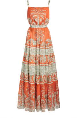 Johanna Ortiz Palms Shades Printed Silk Midi Dress