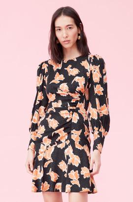 Rebecca Taylor Ikat Blossom Silk Jacquard Dress