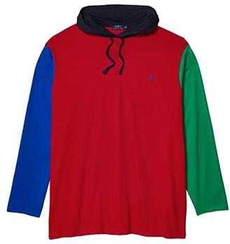 Polo Ralph Lauren Big & Tall Big Tall Long Sleeve Hooded T-Shirt (RL 2000 Red Multi) Men's T Shirt