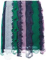 Versace embroidered patchwork mini skirt - women - Silk - 42