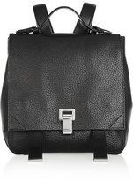 Proenza Schouler Courier Textured-leather Backpack - Black
