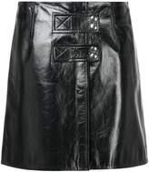 Yves Salomon varnished leather skirt