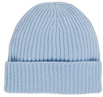 Barneys New York Women's Rib-Knit Cashmere Beanie - Blue